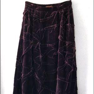 Vintage Skirts - HAN FENG DESIGNER PURPLE VELVET MAXI SKIRT SZ 6